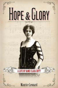 Cover of Hope and Glory: A Life of Dame Clara Butt